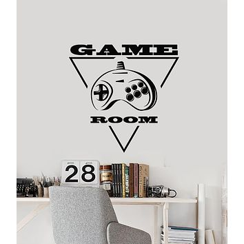 Vinyl Wall Decal Joystick Video Games Console Gamer Room Stickers Mural (g1007)