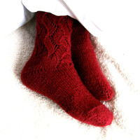 Amazing wool lacy long socks