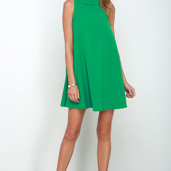 Mod Maven Green Swing Dress