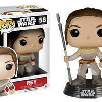 Funko POP! Star Wars Force Awakens Rey Bobble-Head Figure