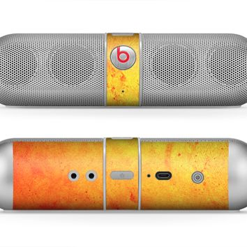The Orange Vibrant Texture Skin for the Beats by Dre Pill Bluetooth Speaker