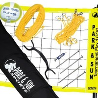 Park & Sun Tournament Flex 1000 Yellow Volleyball Net