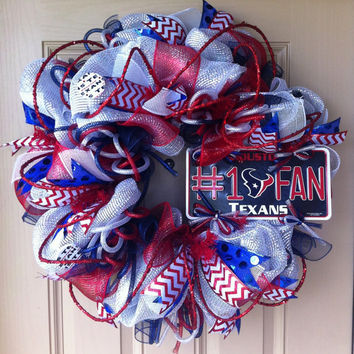 Houston TEXANS Deluxe Deco Mesh Wreath
