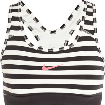 Nike - Pro Classic Dri-FIT striped stretch-jersey sports bra