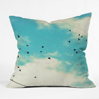 Shannon Clark Blue Skies Ahead Throw Pillow
