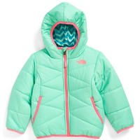 The North Face Toddler Girl's 'Perrito' Reversible Water Repellent Hooded Jacket,