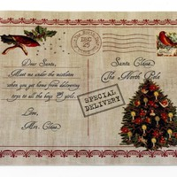 Letter to Santa Holiday Place Mat Set of 4
