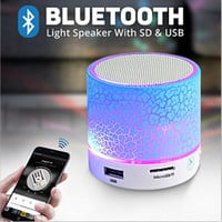 LED Portable Mini Bluetooth Speakers Wireless Hands Free Speaker With TF USB FM Mic Blutooth Music For iPhone 6 7 s Mobile Phone