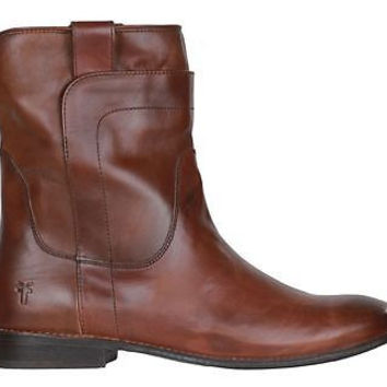 Frye Womens Short Riding Boots Paige 76958 Redwood Leather