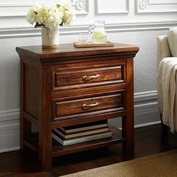BOWRY RECLAIMED WOOD BEDSIDE TABLE