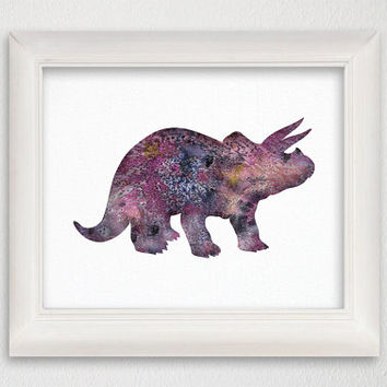 Dinosaur Art Print, Dinosaur Poster, Dinosaur Wall Decor, Dinosaur Wall Art, Watercolor Dinosaur, Watercolor Print, Animal, Kids Wall Art