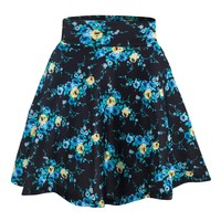 Womens Printed Skater Skirt, A Line Flared Skirt Reg & Plus Size Skater Skirts USA