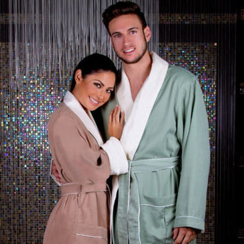 Brushed Microfiber Robe Lined in Terry | Style: DSM4000