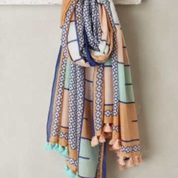 Noura Scarf by A Peace Treaty for Anthropologie in Blue Size: One Size Scarves