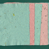 "Handmade Paper, Deckle Edge, 5 Sheets, 5""x7"", Green, Red, Flowers, Leaves, Glitter, Recycled, Deckle Edge, Christmas, Special Paper"