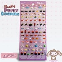 Kawaii Sushi Puffy Stickers