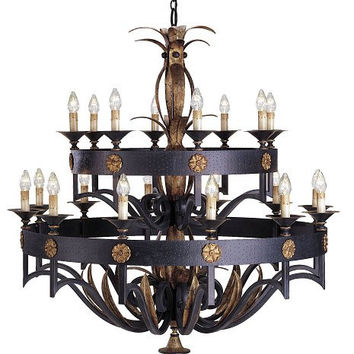 Currey Camelot Two Tier CH, lg 20E-9837