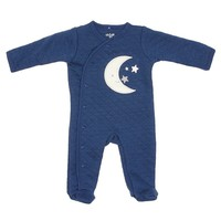 Baby Boys Navy Moon Footie (0-9m) 311527815