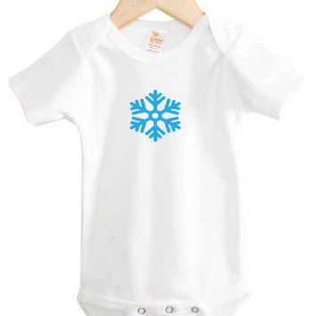 Snowflake Baby Onesuit // Winter baby // Christmas baby clothing // holiday // winter
