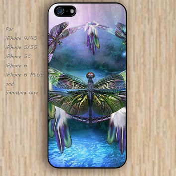 iPhone 5s 6 case colorful dream catcher dragonfly iphone case,ipod case,samsung galaxy case available plastic rubber case waterproof B240