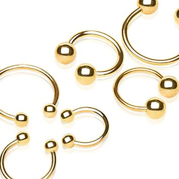 Gold Plated 316L Surgical Steel Horseshoe with Ball