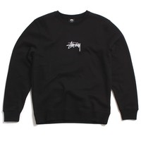 Stussy Stock Applique Crewneck Sweatshirt Black