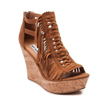 Womens Not Rated Honey Fringe Wedge
