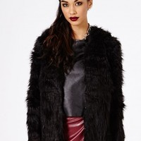 Missguided - Maaya Faux Fur Coat