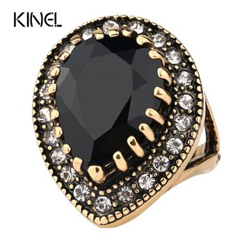 Vintage Look Victoria Wieck Wedding Rings Color Gold Black  Ring Jewelry For Women Yeezys 350