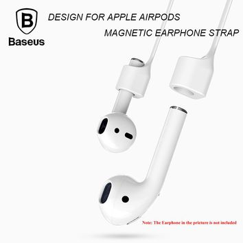 Baseus Earphone Strap Magnetic Adsorption Wire Anti Lost Loop String Rope for AirPods Apple 7 / 7 Plus  Silicone Cable Cord