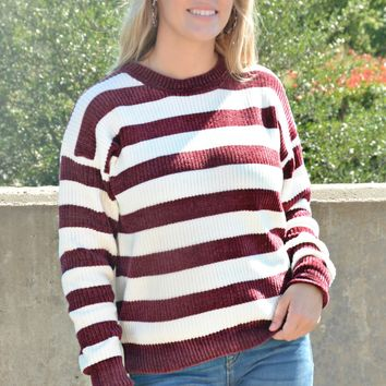 Good As Gone Sweater - Burgundy