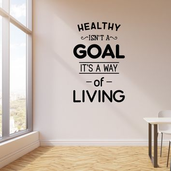 Vinyl Wall Decal Healthy Lifestyle Living Quote Medical Office Interior Art Stickers Mural (ig5708)
