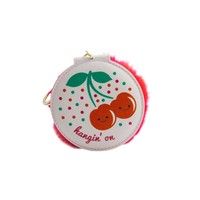 Keychain Compact Mirror: Cherries