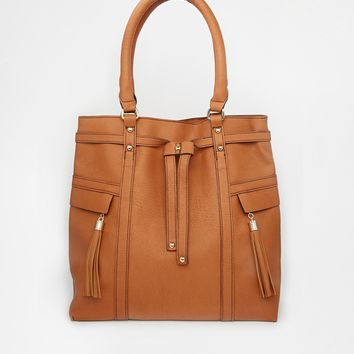 Warehouse Tassel & Zip Day Bag