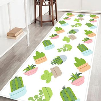 Cactus Plant Pattern Indoor Outdoor Area Rug