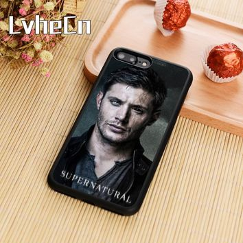 LvheCn Supernatural Dean Winchester Soft Phone Case Cover For iPhone 5s 6 6s 7 8 plus 10 X Samsung Galaxy S6 S7 edge S8 S9 note8