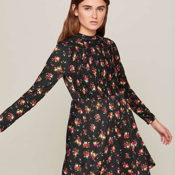 Black Printed Sheered Tea Dress | Missselfridge