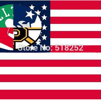 Boston Celtics New England Patriots Boston Red Sox Boston Bruins Flag 3x5 FT Banner 100D Polyester NBA flag 177,  free shipping