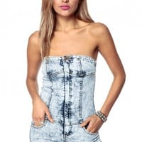 d0fbe56e0e Acid Washed Bloc Party Romper @ Cicihot Pants Online Store: sexy pants,sexy  club