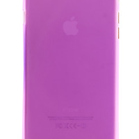 Purple Frosted Transparent Soft Case for iPhone 6
