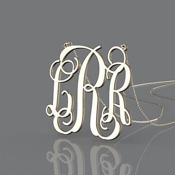 Most fashion customized monogram 1.25 inch necklace--personalized present for relative