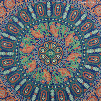 Queen Psychedelic Multicolor Mandala Medallion Tapestry Wall Hanging