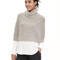 Banana Republic Womens Turtleneck Short Sweater Capelet