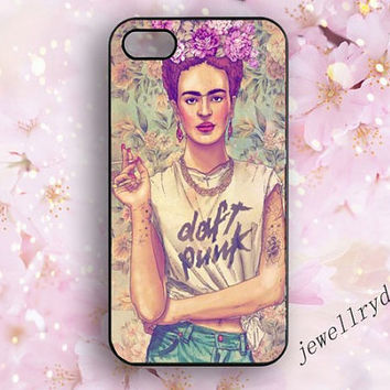 Frida Kahlo Iphone case,iphone 4/4s case,Punk Rock Vintage iphone 5/5S case,Retro iphone 5c case,Cute  Frida Kahlo Samsung Galaxy S3 S4 S5