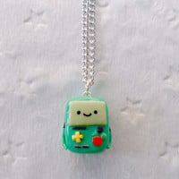 Beemo (or BMO from Adventure Time) Chibi Necklace :)