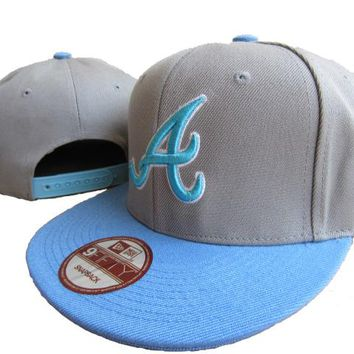 Atlanta Braves New Era MLB 9FIFTY Cap Grey-Blue