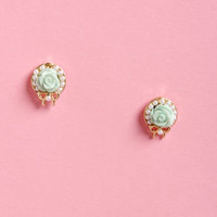 Wreath Around the Rosie Gold Rose Earrings