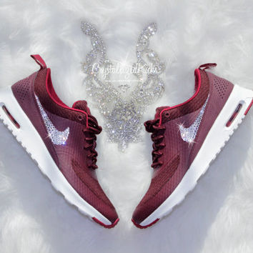 Nike Air Max Thea Premium w/ SWAROVSKI® Crystals - Night Maroon/Noble Red/White