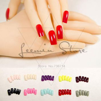 Fashion long false nails colour fake nails sexy choice for party