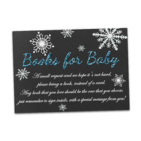 Snowflake Books for Baby Insert - Blue Glitter Books for Baby DIY Printable - Cold Outside Boy - Christmas Baby Shower - Build a Library